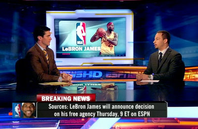 LeBron James To Announce Decision on ESPN, Thursday @ 9pm ...