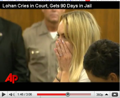 lindsay lohan cries in court