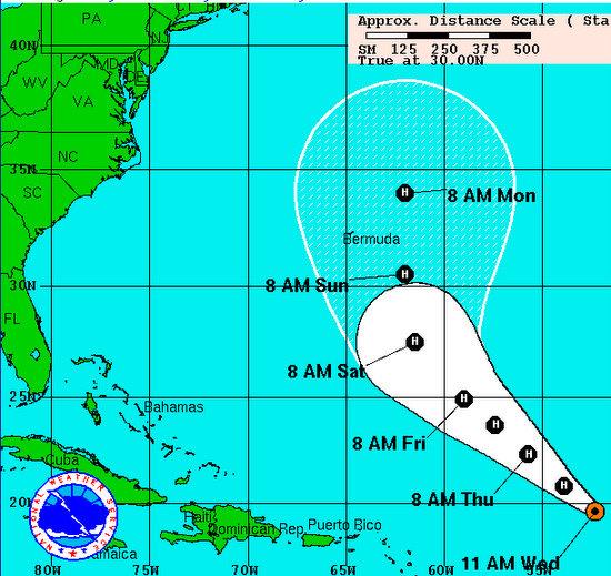 hurricane danielle path