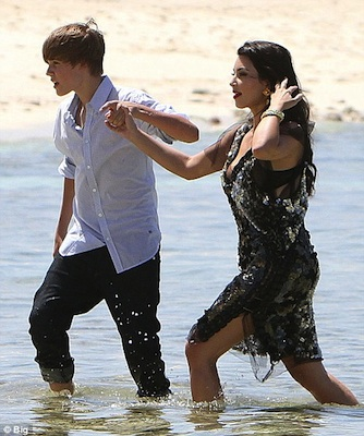 justin bieber pants falling down at the beach. at the each!