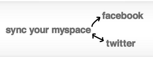 myspace facebook sync