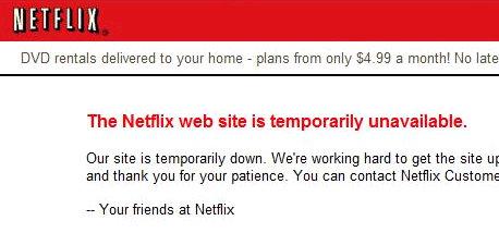 netflix down login unavailable