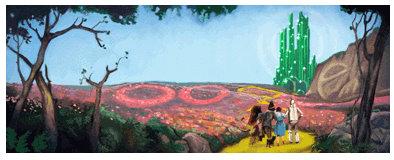 wizard of oz google doodle logo