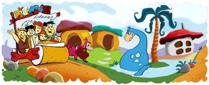 flintstones google doodle logo