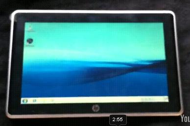 hp slate windows 7 leaked video