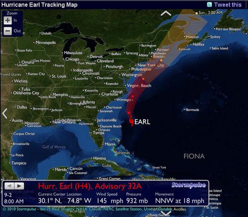 hurricane earl live tracking