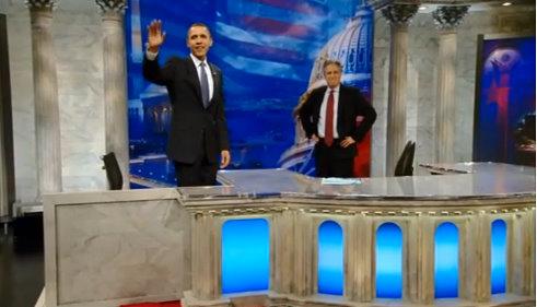 barack obama jon stewart the daily show