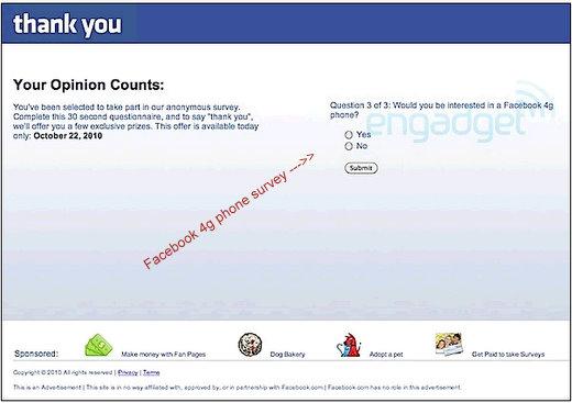 facebook 4g phone rumors