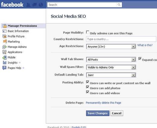 facebook fan page dashboard layout 1