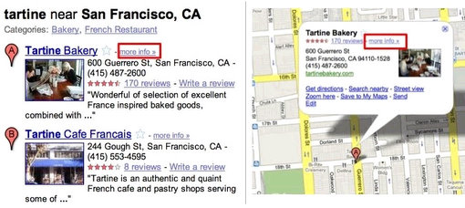 google places local business