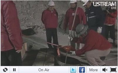 miners in chile live stream rescue