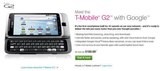 t mobile g2 android phone
