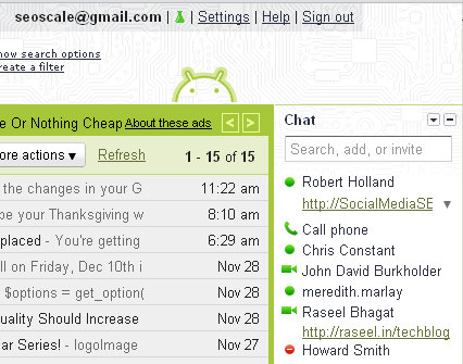 drive website traffic gmail chat