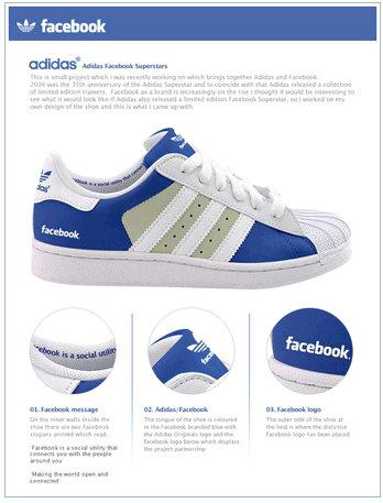 facebook adidas sneakers