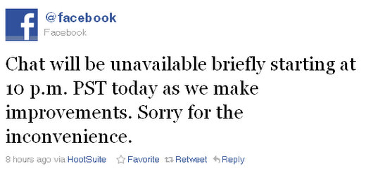 facebook chat goes down