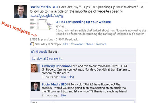 facebook fan page post insights