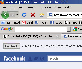 facebook homepage option