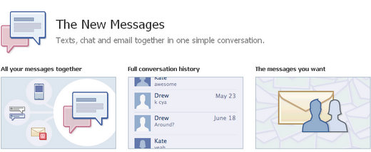 facebook new messaging service