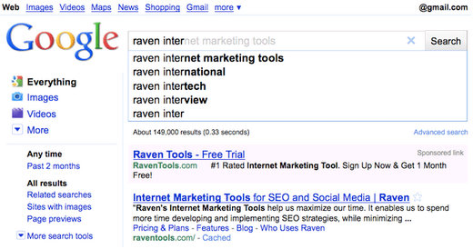 google instant search preview seo