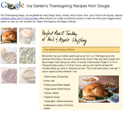 ina garten thanksgiving day recipes day 1
