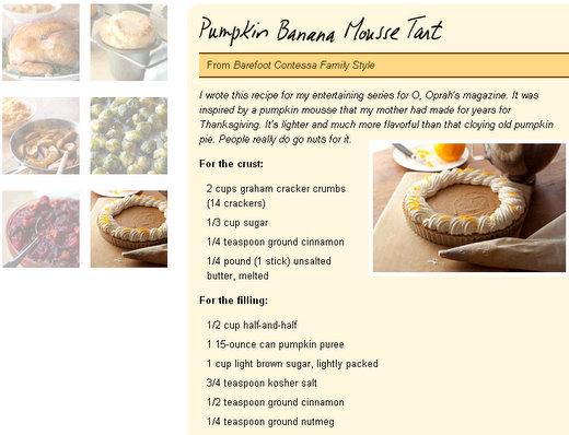 ina garten thanksgiving day recipes day 2