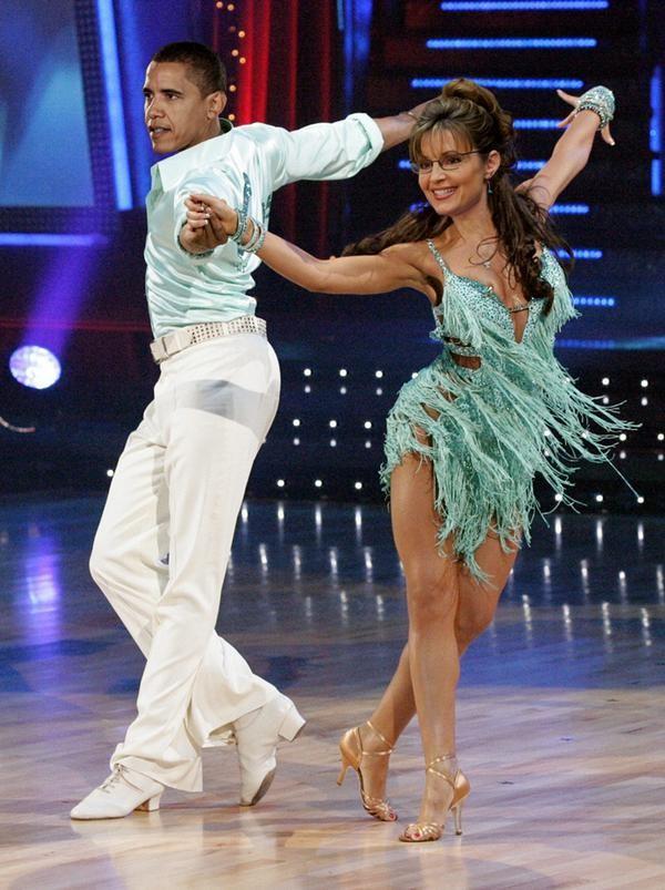 president barack obama sarah palin dancing