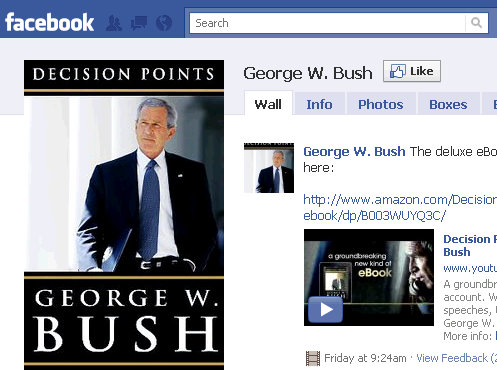president george w bush facebook live event