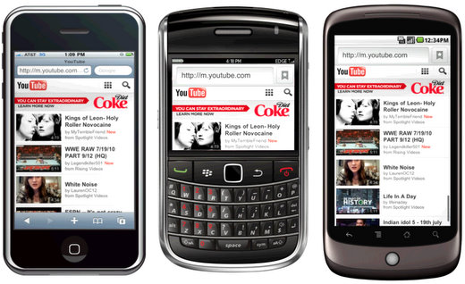 youtube mobile growth