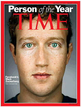 facebook ceo mark zuckerberg time person of the year 2010