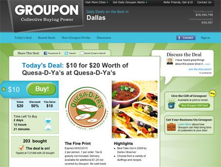 groupon daily deal international