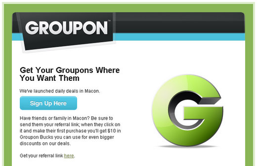 groupon launches in macon ga