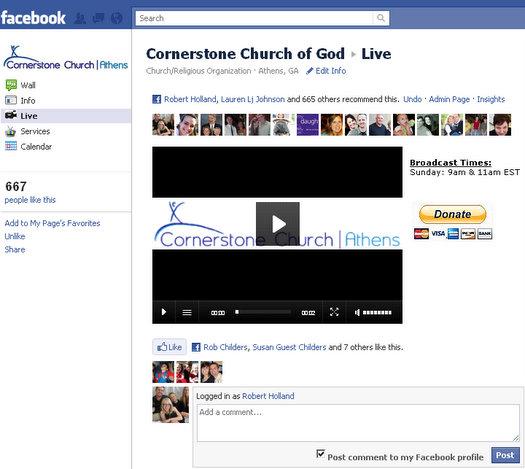 cornerstone church live streaming