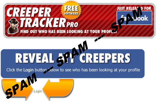 creeper tracker pro faceboo spam