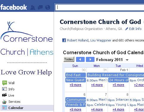 embedding google calendar into facebook fan page