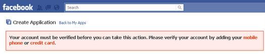 facebook apps developer screen