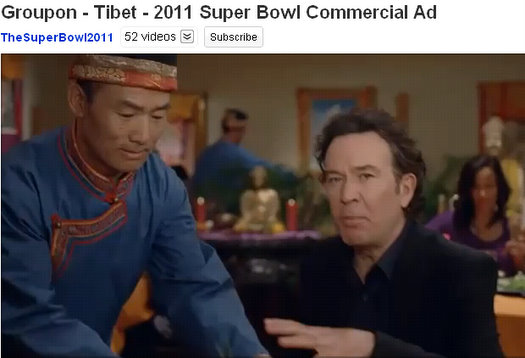 groupon super bowl commercial ad tibet