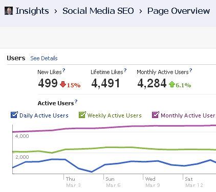 facebook fan growth