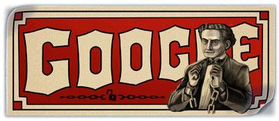 harry houdini google doodle logo