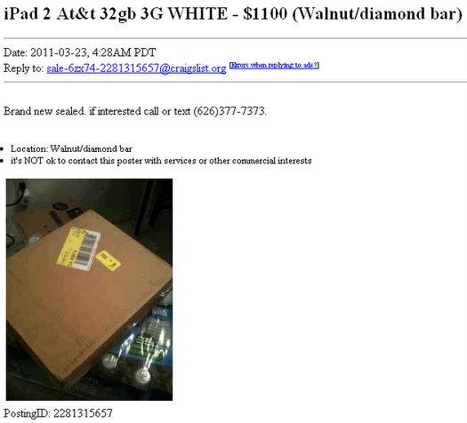 ipad 2 white for sale 1100 craigslist