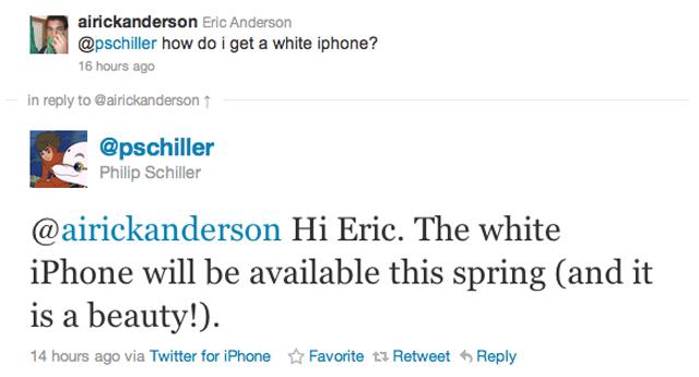 phil schiller white iphone tweet