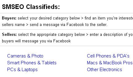 smseo classified listings