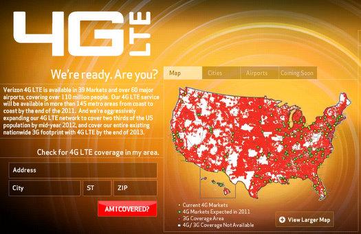 Current List Of Verizon 4g Cities 2011