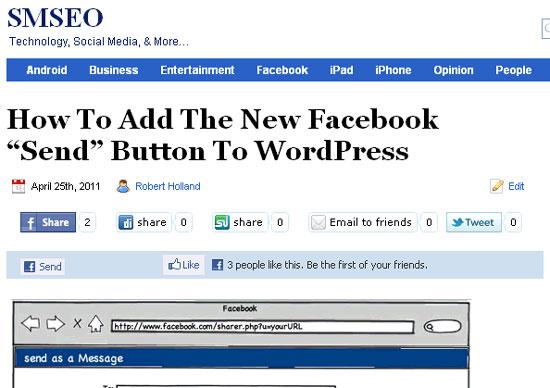 facebook send facebook like