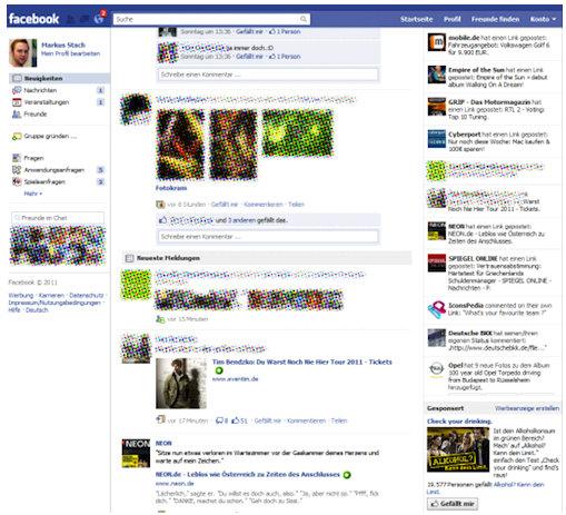 facebook new homepage update