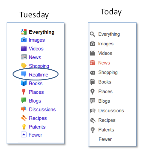real time search google twitter