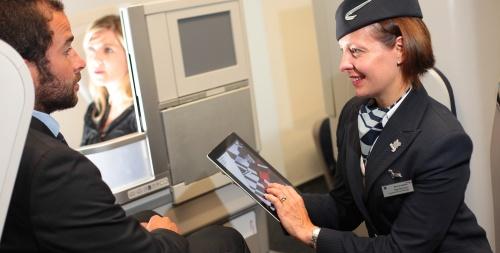 britiah airways ipad flight attendants