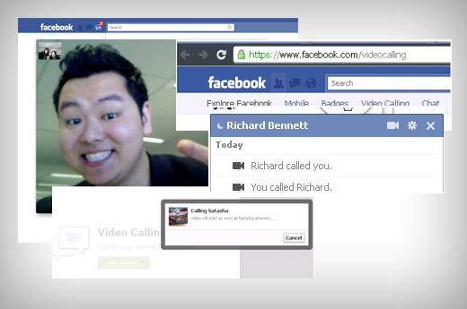 facebook skype video calling