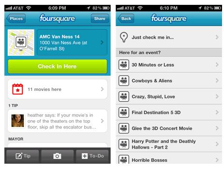 foursquare event checkin