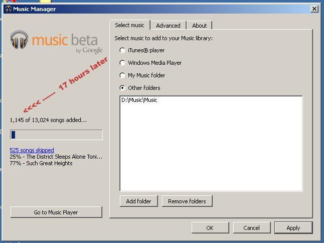 google music slow uploading
