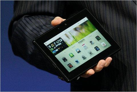 rim blackberry blaybook tablet